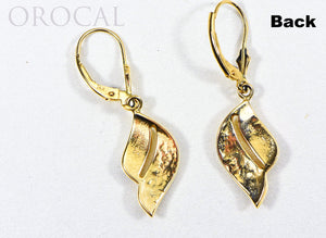 "Gold Quartz Earrings ""Orocal"" EN645Q/LB Genuine Hand Crafted Jewelry - 14K Gold Casting"