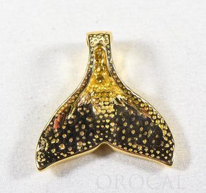 "Gold Nugget Pendant Whales Tail ""Orocal"" PDLWT16SDN Genuine Hand Crafted Jewelry - 14K Gold Yellow Gold Casting"