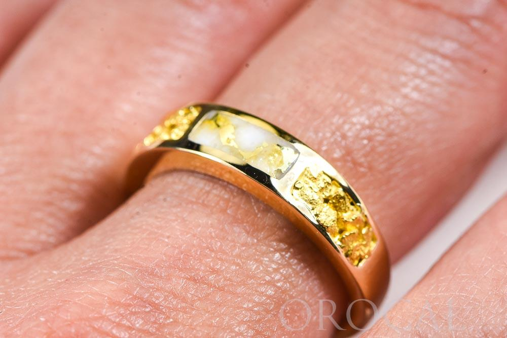 "Gold Quartz Ring ""Orocal"" RL733NQ Genuine Hand Crafted Jewelry - 14K Gold Casting"