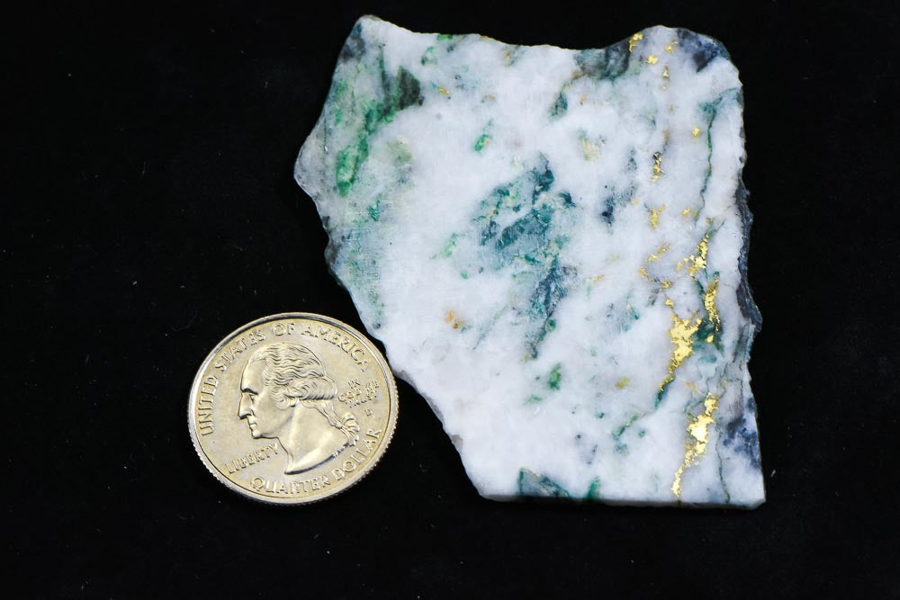 "Large Gold Bearing Quartz Slab Original 16-1 Mine California 14.67 Grams Genuine ""BlueJay"""