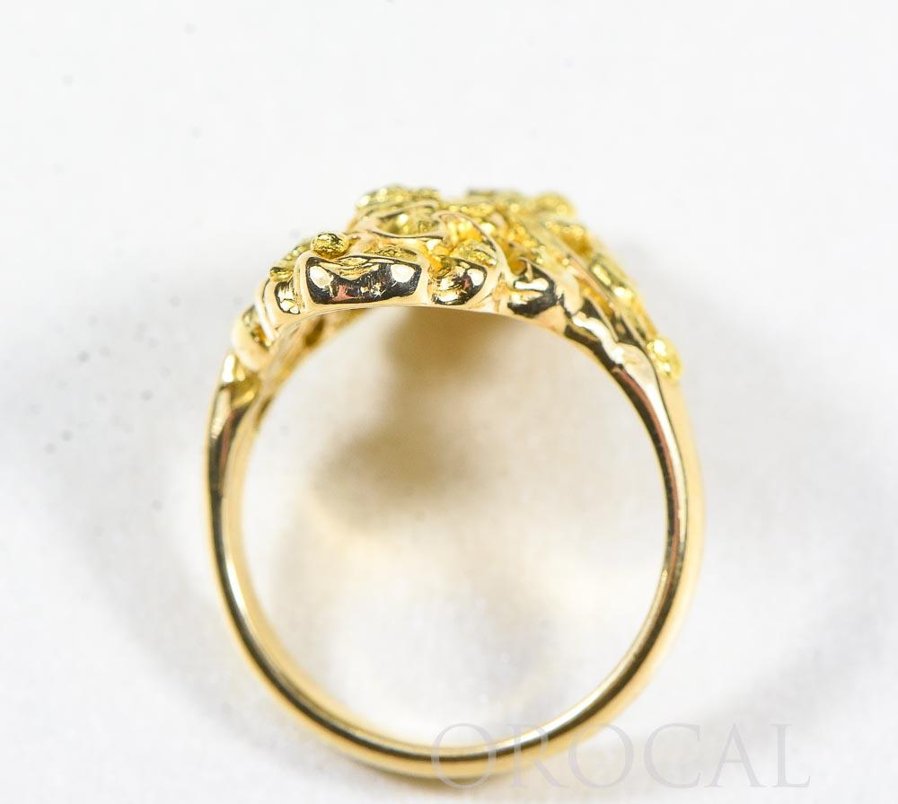 "Gold Nugget Ladies Ring ""Orocal"" RL239 Genuine Hand Crafted Jewelry - 14K Gold Casting"