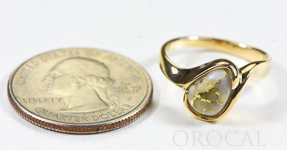 "Gold Quartz Ring ""Orocal"" RL637Q Genuine Hand Crafted Jewelry - 14K Gold Casting"