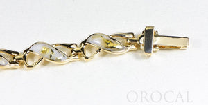 "Gold Quartz Bracelet ""Orocal"" BWB40Q Genuine Hand Crafted Jewelry - 14K Gold Casting"