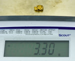 #1023 Australian Natural Gold Nugget 3.89 Grams Genuine