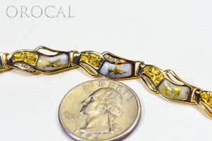"Gold Quartz Bracelet ""Orocal"" BWB24D36NQ Genuine Hand Crafted Jewelry - 14K Gold Casting"
