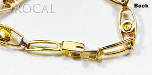 "Gold Nugget Bracelet ""Orocal"" BDLOV5LHNC89 Genuine Hand Crafted Jewelry - 14K Gold Casting"