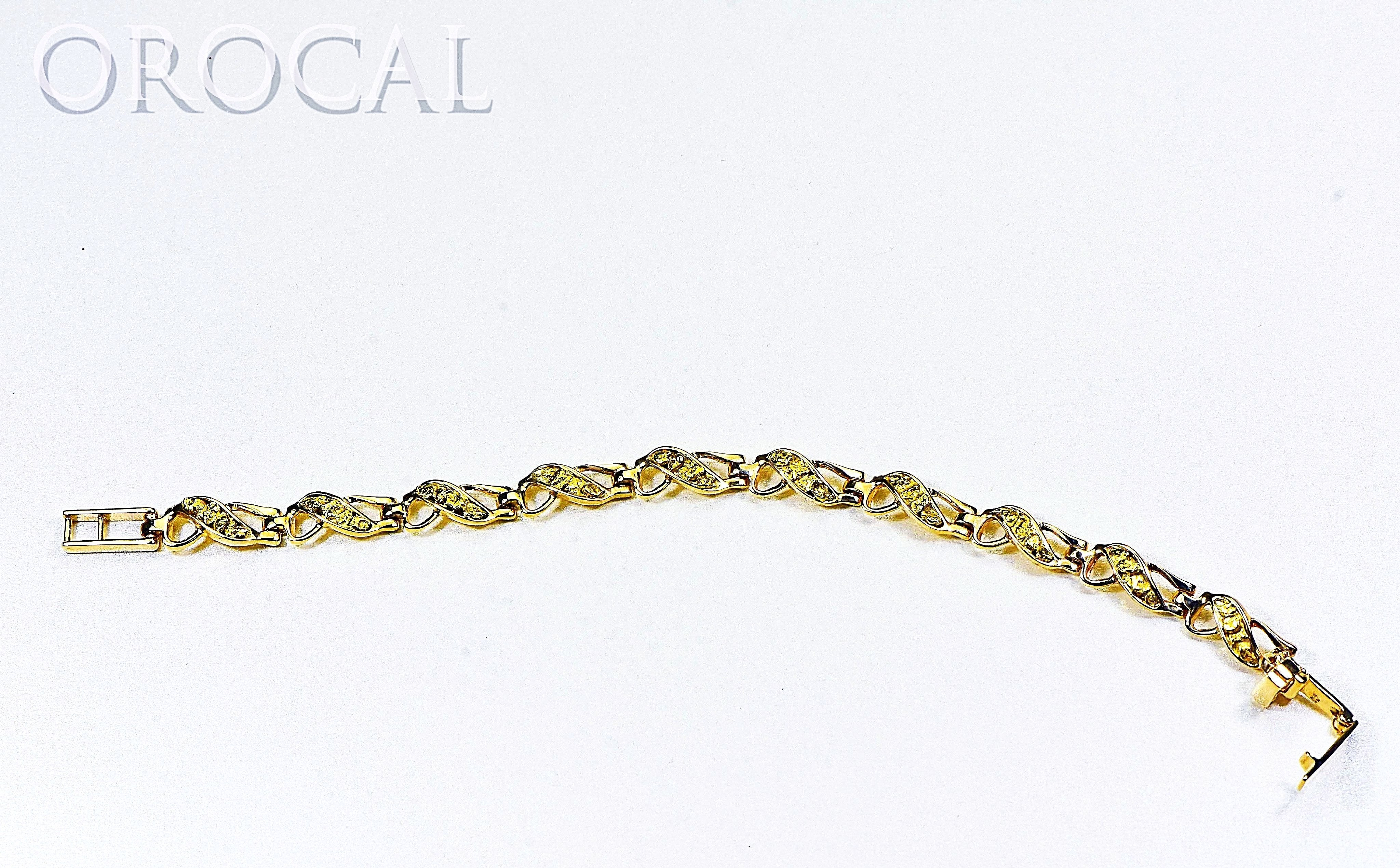 "Gold Nugget Bracelet ""Orocal"" BWB40N9L Genuine Hand Crafted Jewelry - 14K Gold Casting"