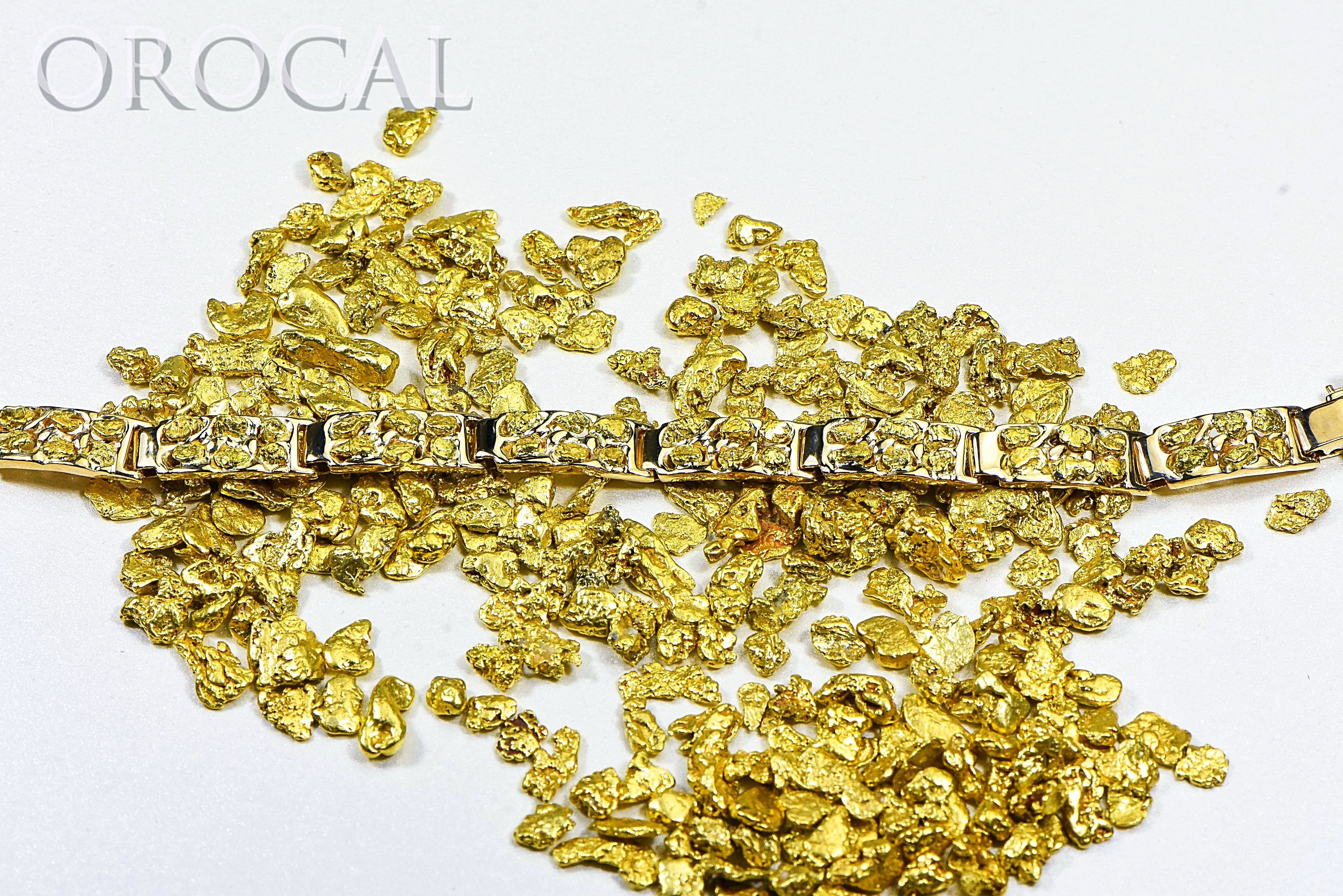 "Gold Nugget Bracelet ""Orocal"" BFFB6L9 Genuine Hand Crafted Jewelry - 14K Gold Casting"