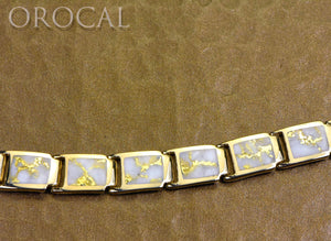 "Gold Quartz Bracelet ""Orocal"" B8MMH14LQ* Genuine Hand Crafted Jewelry - 14K Gold Casting"