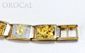 "Gold Quartz Bracelet ""Orocal"" B12MMOLQL11 Genuine Hand Crafted Jewelry - 14K Gold Casting"