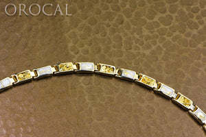 "Gold Quartz Bracelet ""Orocal"" B6MM7N7Q Genuine Hand Crafted Jewelry - 14K Gold Casting"