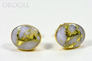 "Gold Quartz Earrings ""Orocal"" EBZ8*6Q Genuine Hand Crafted Jewelry - 14K Gold Casting"