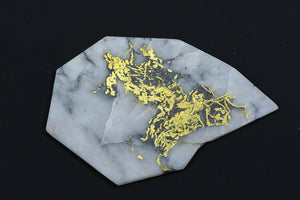 "Large Gold Bearing Quartz Slab Original 16-1 Mine California  18.81 Grams Genuine ""Lightning"""