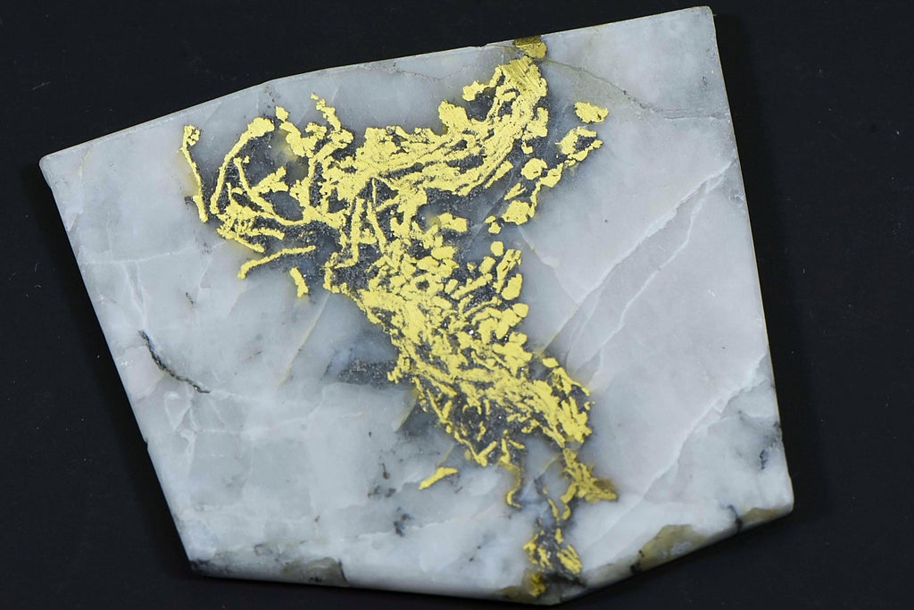"Large Gold Bearing Quartz Slab Original 16-1 Mine California 29.36 Grams Genuine ""Lightning"""