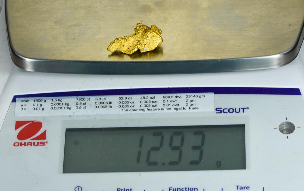 #245 Alaskan BC Natural Gold Nugget 2.65 Grams Genuine