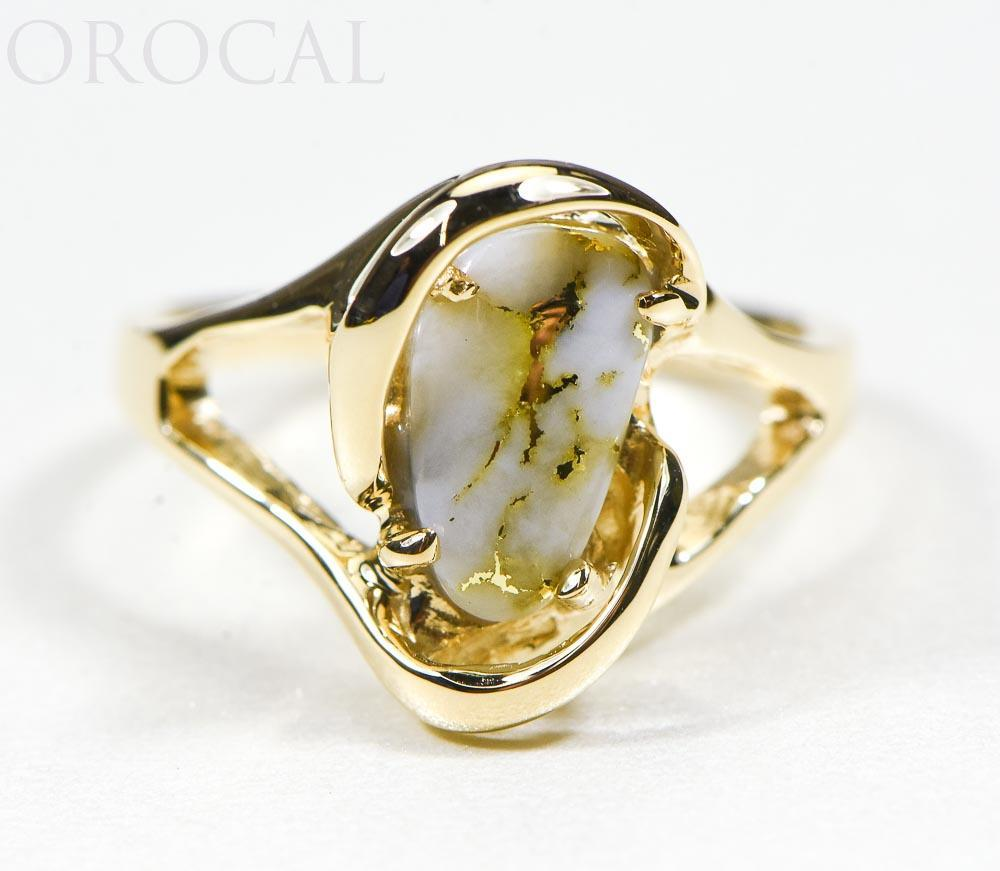 "Gold Quartz Ring ""Orocal"" RL784SQ Genuine Hand Crafted Jewelry - 14K Gold Casting"