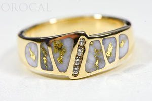 "Gold Quartz Ring ""Orocal"" RM882D8Q Genuine Hand Crafted Jewelry - 14K Gold Casting"