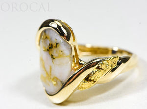 "Gold Quartz Ring ""Orocal"" RL1002NQ Genuine Hand Crafted Jewelry - 14K Gold Casting"