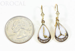 "Gold Quartz Earrings ""Orocal"" EN1088DQ/LB Genuine Hand Crafted Jewelry - 14K Gold Casting"