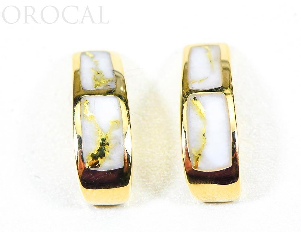 "Gold Quartz Earrings ""Orocal"" EH41Q Genuine Hand Crafted Jewelry - 14K Gold Casting"