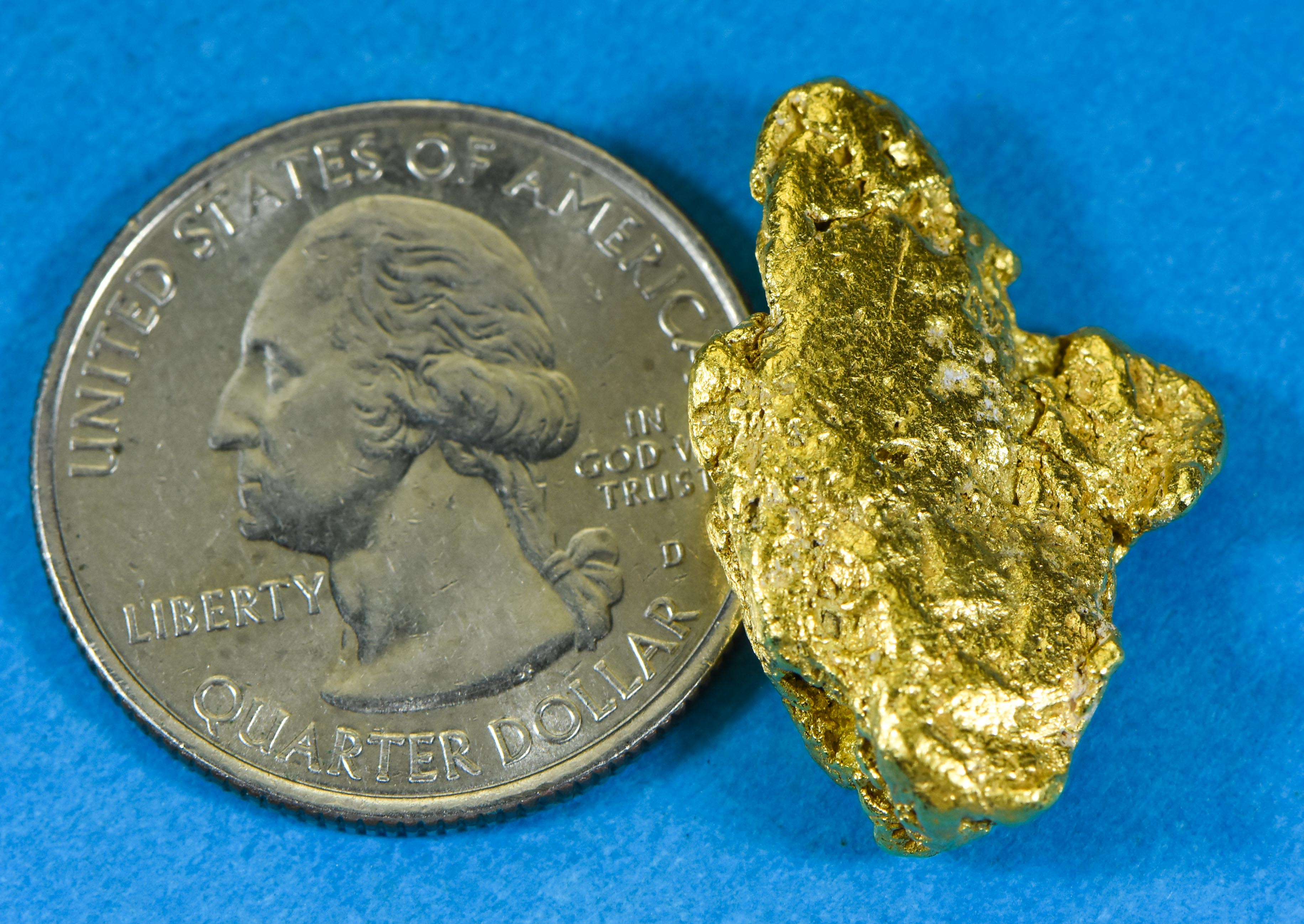 #453 Alaskan BC Natural Gold Nugget 17.67 Grams Genuine