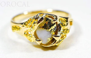 "Gold Quartz Ladies Ring ""Orocal"" RL659Q Genuine Hand Crafted Jewelry - 14K Gold Casting"