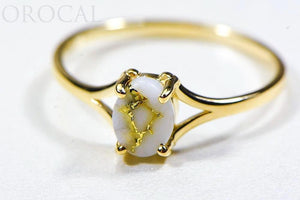 "Gold Quartz Ladies Ring ""Orocal"" RL751Q Genuine Hand Crafted Jewelry - 14K Gold Casting"