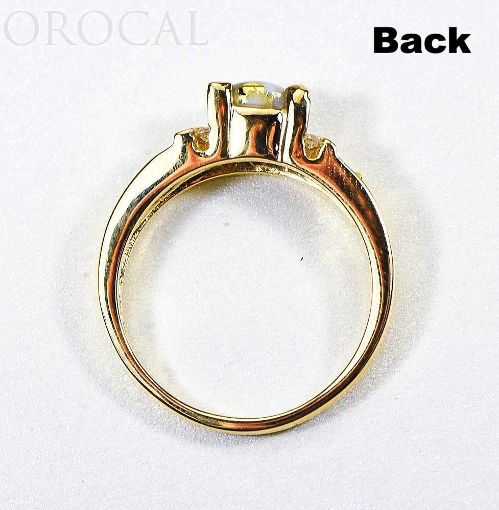 "Gold Quartz Ladies Ring ""Orocal"" RL881D12NQ Genuine Hand Crafted Jewelry - 14K Gold Casting"