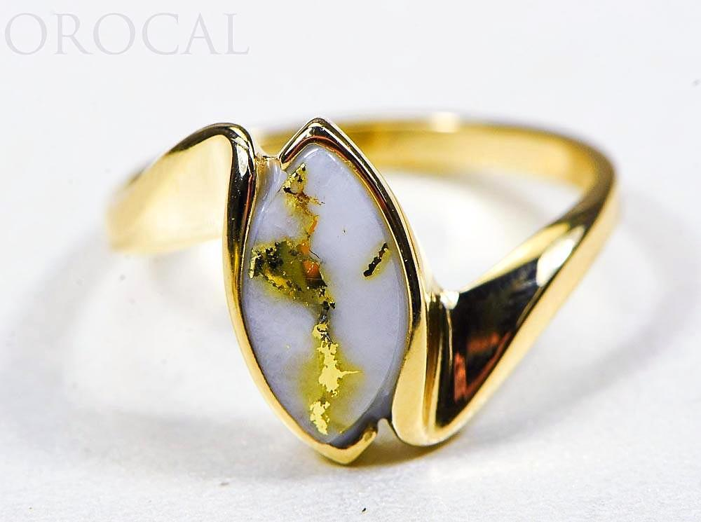"Gold Quartz Ladies Ring ""Orocal"" RL972Q Genuine Hand Crafted Jewelry - 14K Gold Casting"