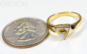 "Gold Quartz Ladies Ring ""Orocal"" RLL1326Q Genuine Hand Crafted Jewelry - 14K Gold Casting"