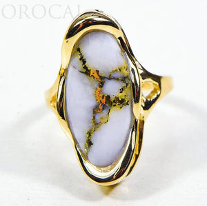 "Gold Quartz Ladies Ring ""Orocal"" RLN790Q Genuine Hand Crafted Jewelry - 14K Gold Casting"