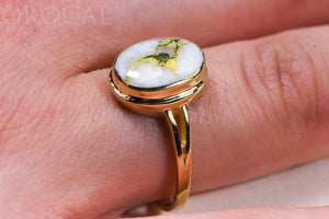 "Gold Quartz Ladies Ring ""Orocal"" RLL1348Q Genuine Hand Crafted Jewelry - 14K Gold Casting"