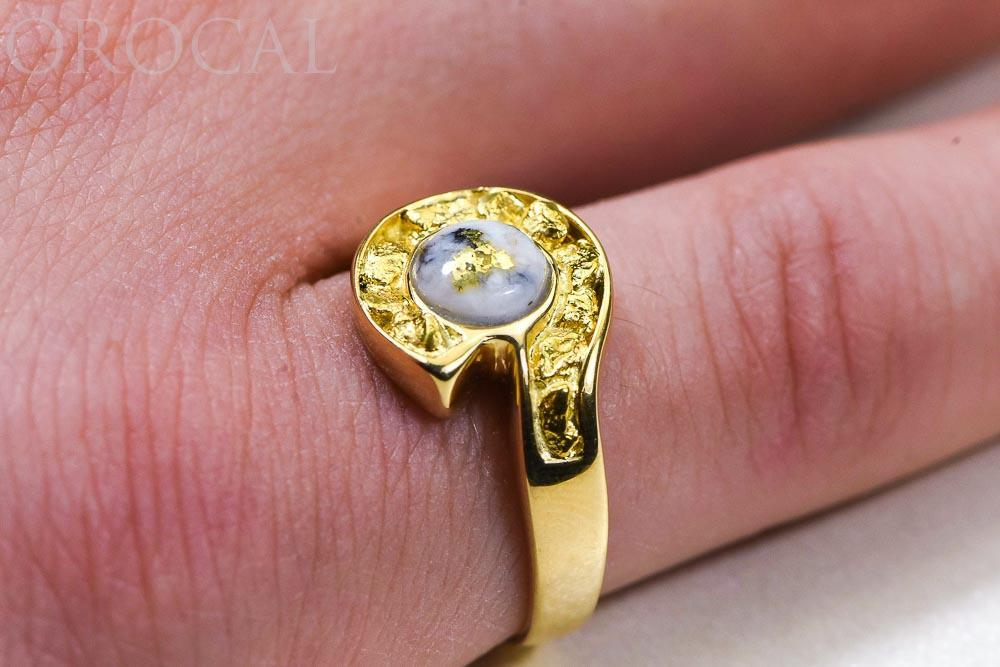 "Gold Quartz Ladies Ring ""Orocal"" RLEA5Q Genuine Hand Crafted Jewelry - 14K Gold Casting"