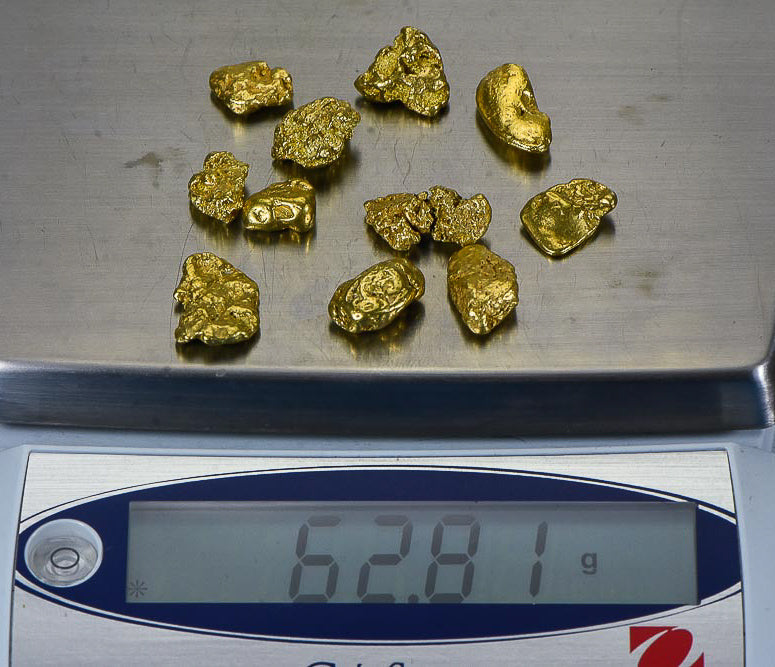 Alaskan BC Natural Gold Nugget 2 Troy Oz. Lot of 5-10 gram Nuggets Genuine B& C  GRADE