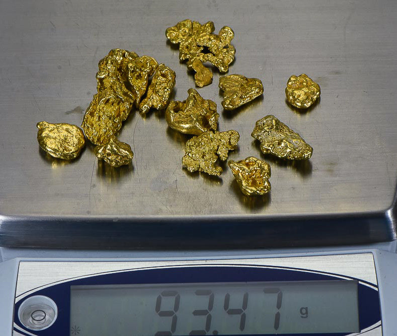 Alaskan BC Natural Gold Nugget 3 Troy Oz. Lot of 5-10 gram Nuggets Genuine B&C