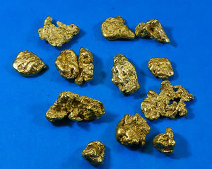 Natural Gold Nuggets for Sale.  2 Troy Ounces of 5-10 gram pieces.  You will receive 9-18  Gold nuggets in this Lot.