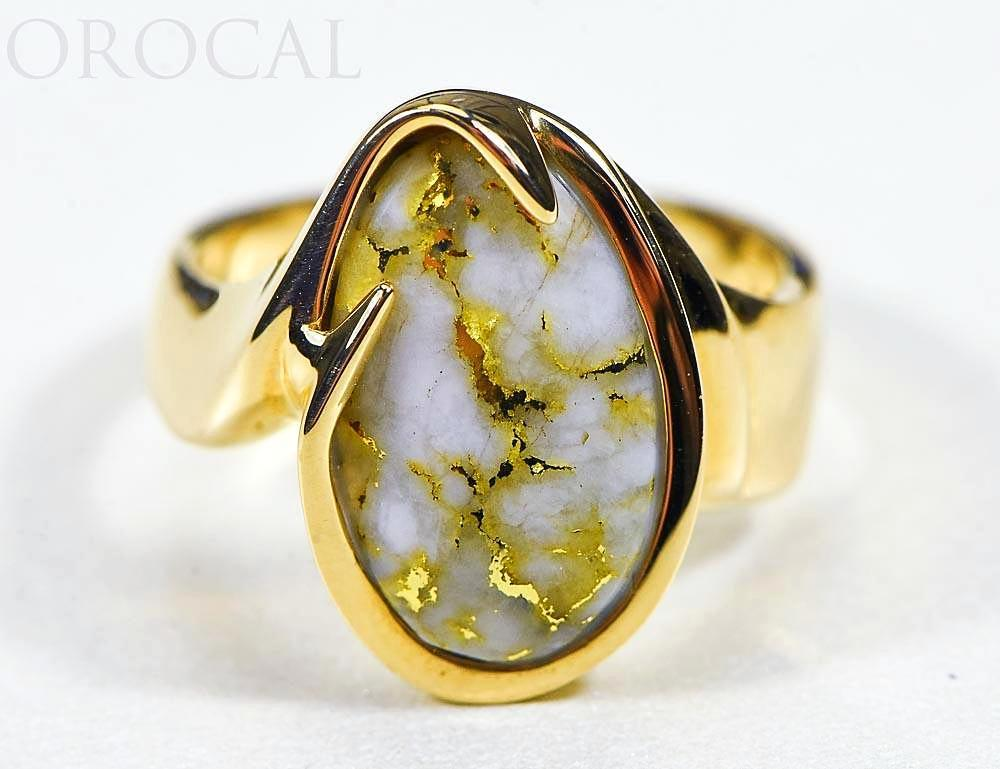 "Gold Quartz Ladies Ring ""Orocal"" RL517Q Genuine Hand Crafted Jewelry - 14K Gold Casting"