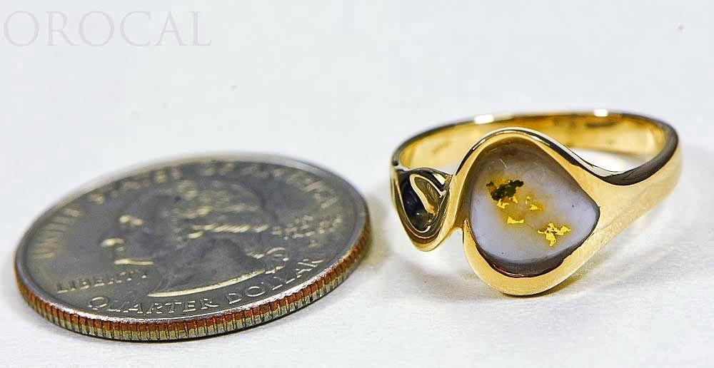 "Gold Quartz Ladies Ring ""Orocal"" RL560Q Genuine Hand Crafted Jewelry - 14K Gold Casting"