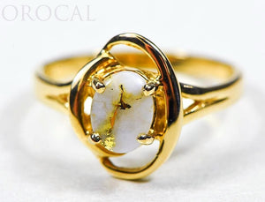 "Gold Quartz Ladies Ring ""Orocal"" RL805Q Genuine Hand Crafted Jewelry - 14K Gold Casting"