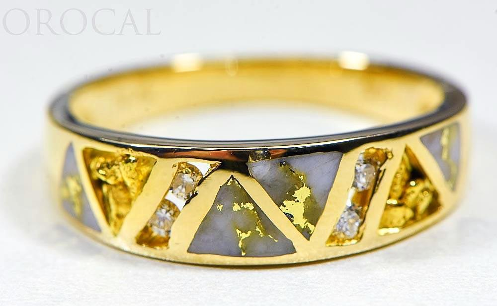 "Gold Quartz Ring ""Orocal"" RM968D16NQ Genuine Hand Crafted Jewelry - 14K Gold Casting"