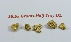 Alaskan Bc Natural Gold Nugget 15.55 Gram Lot Of 2 To 5 Gram Nuggets Genuine Alaska Lots/groups