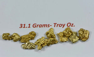 Alaskan Bc Natural Gold Nugget 31.10 Gram Lot Of 2 To 5 Gram Nuggets Genuine 1 Troy Oz. Alaska