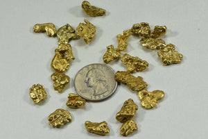 Alaskan Bc Natural Gold Nugget 62.20 Gram Lot Of 2 To 5 Gram Nuggets Genuine 2-Troy Oz. Alaska