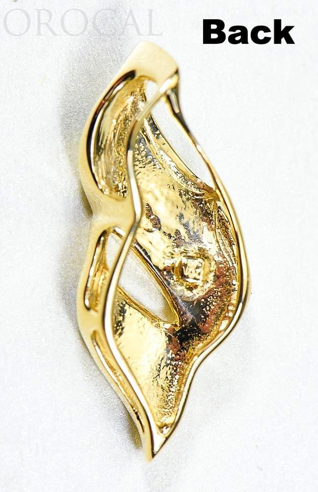 "Gold Quartz Pendant ""Orocal"" PN649QX Genuine Hand Crafted Jewelry - 14K Gold Yellow Gold Casting"