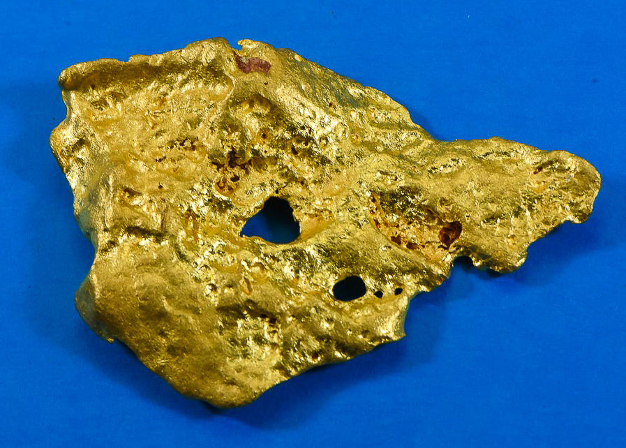 "Large Natural Gold Nugget Australian ""Bird Skull"" 171.03 Grams 5.49 Troy Ounces Very Rare"