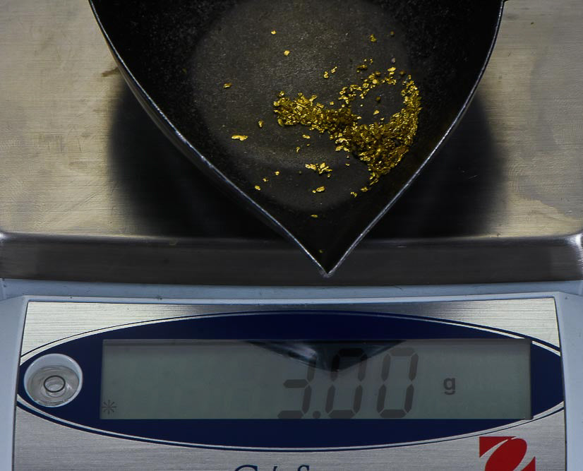California Gold Nuggets 3 Grams of #30/100 Mix Mesh Gold Authentic Natural American River