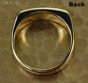 Gold Nugget Mens Ring Orocal Rm567N Genuine Hand Crafted Jewelry - 14K Casting