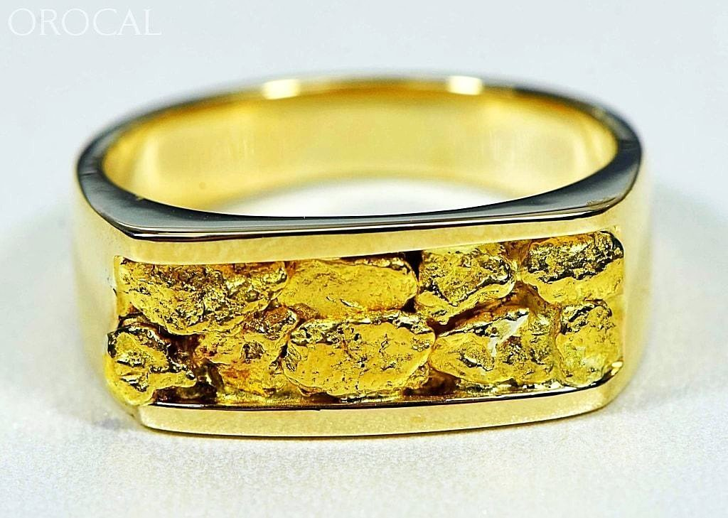 Gold Nugget Men S Ring Orocal Rm567n Genuine Hand Crafted