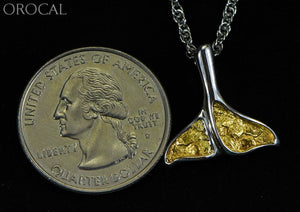 Gold Nugget Pendant Whales Tail - Sterling Silver Special Pdlwt113Nss Hand Made Jewelry Specials