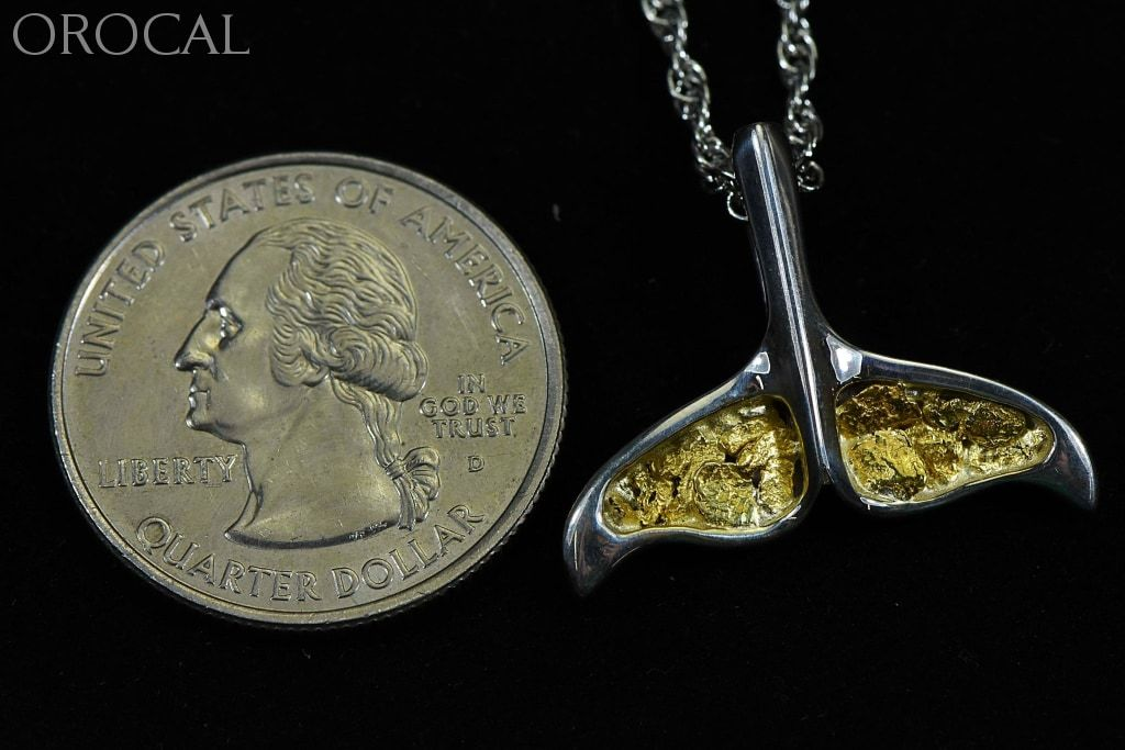 Gold Nugget Pendant Whales Tail - Sterling Silver Special Pdlwt8Mnssx Hand Made Jewelry Specials